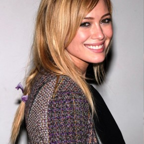 Hilary Duff Braided Hairstyle