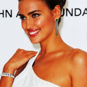 Irina Shayk Tightly Twisted Knot Updo Hairstyle