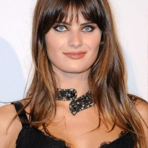 Isabeli Fontana Long Straight Hairstyle With Bangs