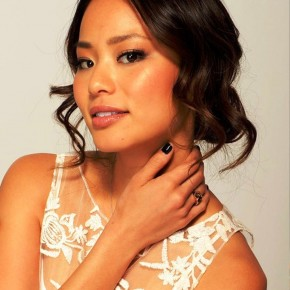 Jamie Chung Loose Wavy Updo Hairstyle With Curls