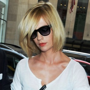 January Jones Short Bob Hairstyle