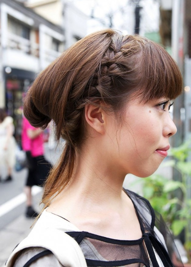 Japanese Girls Braided Hairstyle