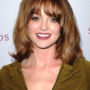 Jayma Mays Medium Wavy Curly Hairstyle