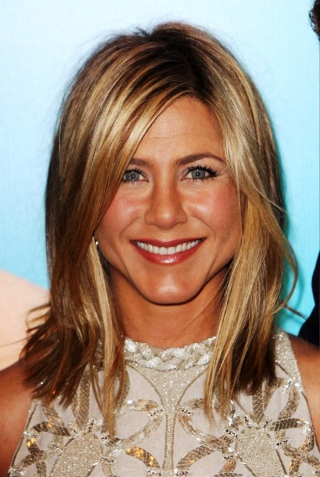 Jennifer Aniston Layered Long Bob Hairstyle