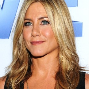 Jennifer Aniston Long Center Part Hairstyle