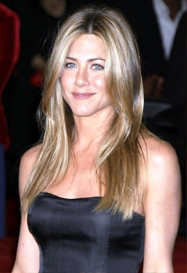 Jennifer Aniston Long Straight Center Part Hairstyle