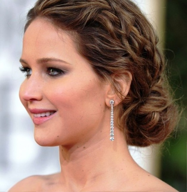Jennifer Lawrence Messy Braided Hairstyle