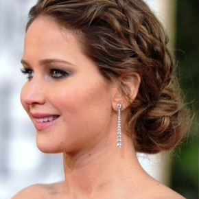 Jennifer Lawrence Messy Braided Hairstyle1