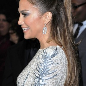 Jennifer Lopez Half Up Half Down Ponytail Hairstyle