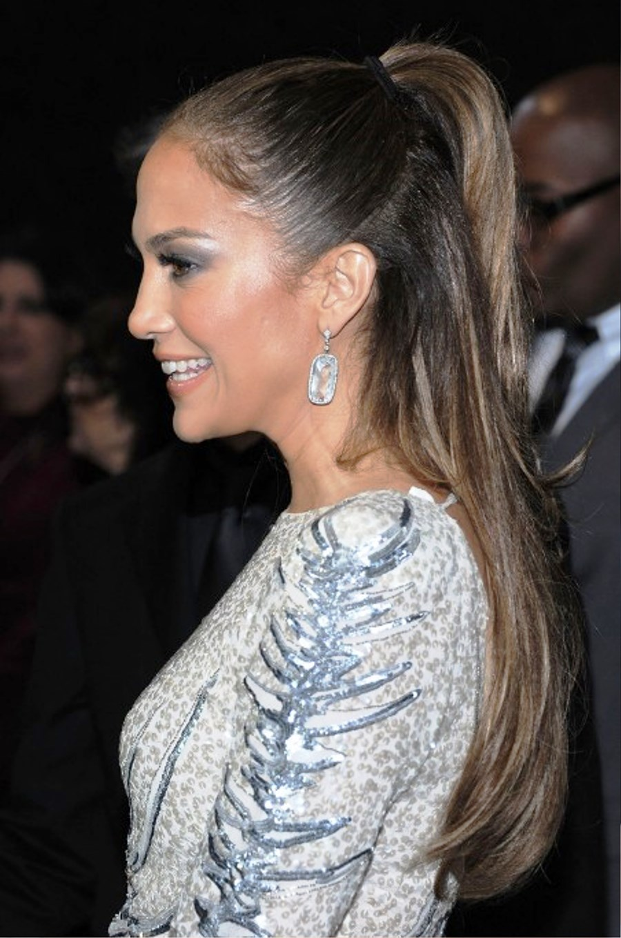 Half Ponytail Hairstyles Pictures Of Jennifer Lopez Half Up Half Down Ponytail Hairstyle