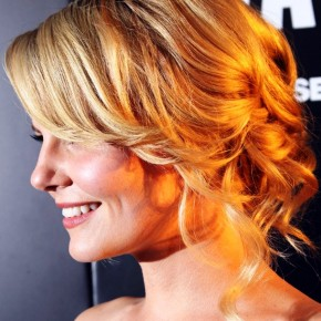 Jennifer Morrison Romantic Loose Wavy Blonde Updo Hairstyle