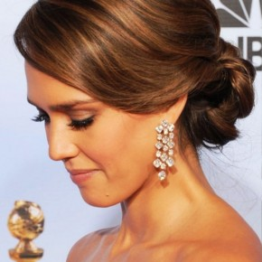 Jessica Alba Romantic Loose Updo For Wedding