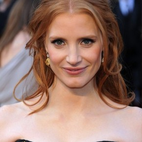 Jessica Chastain Half Up Half Down Formal Hairstyles
