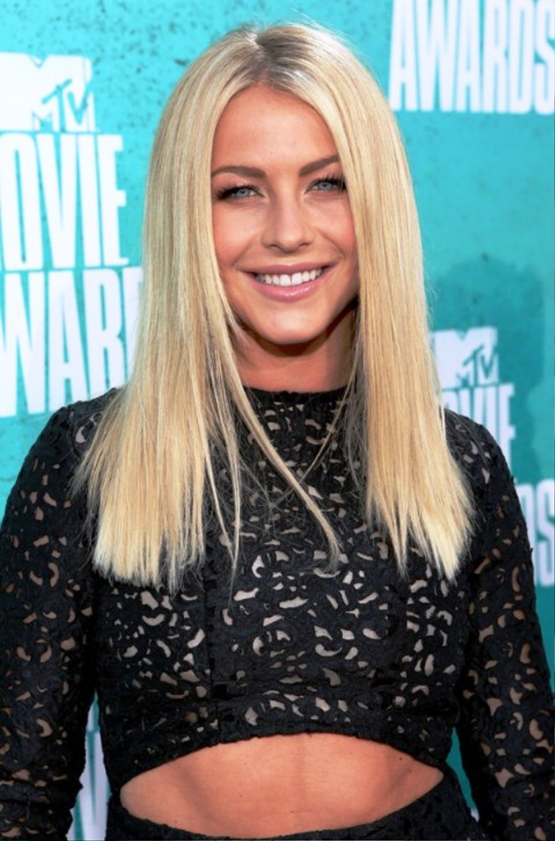 Julianne Hough Long Blonde Straight Hairstyle