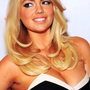 Kate Upton Sexy Long Sleek Blonde Curly Wavy Hairstyle