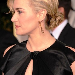 Kate Winslet Casual Low Loose Bun Updo