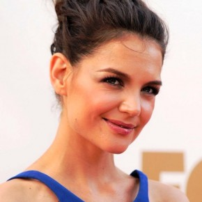 Katie Holmes Cute Casual Loose Bun Updo Hairstyle