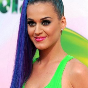Katy Perry Braid Wrapped Ponytail