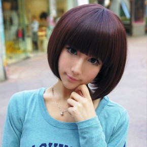 Kawaii Short Bob Haircut For Girls