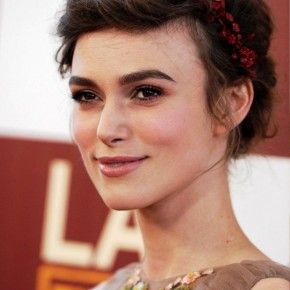 Keira Knightley Braided Updo Hairstyle