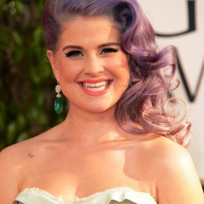 Kelly Osbourne Long Retro Curly Hairstyle 2013