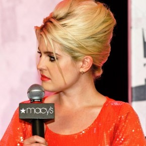 Kelly Osbourne Stylish Blonde Messy Updo Hairstyle