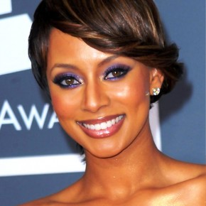 Keri Hilson Stylish French Twist Updo Hairstyle