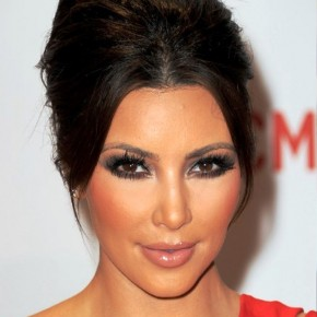 Kim Kardashian Formal French Twist Updo Hairstyle