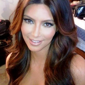 Kim Kardashian Long Hairstyle With Layers
