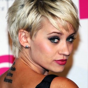 Kimberly Wyatt Short Silver Pixie Hairstyles