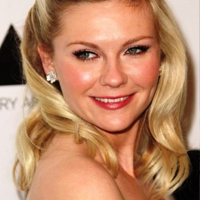 Kirsten Dunst Sleek Half Up Half Down Wedding Hair