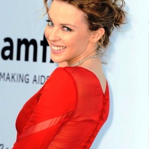 Kylie Minogue Sexy Wavy Bobby Pinned Updo