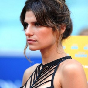 Lake Bell Casual Messy Updo Hairstyle