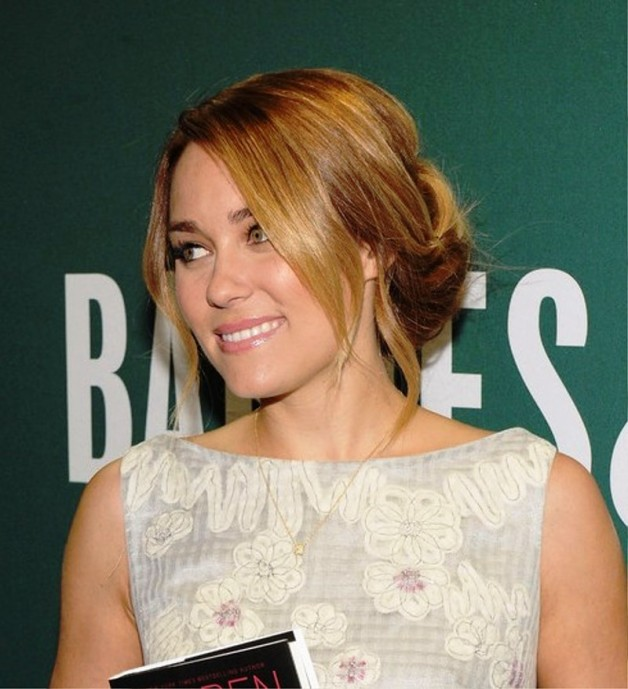 Lauren Conrad Lovely Cute Bobby Pinned Updo Behairstyles