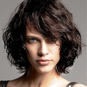 Layered Curly Bob Hairstyle