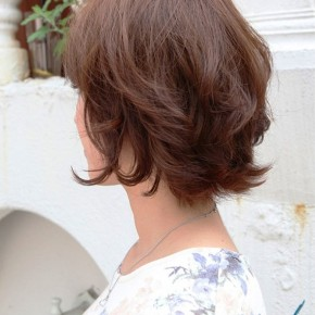 Layered Short Bob Hairstyle For Women