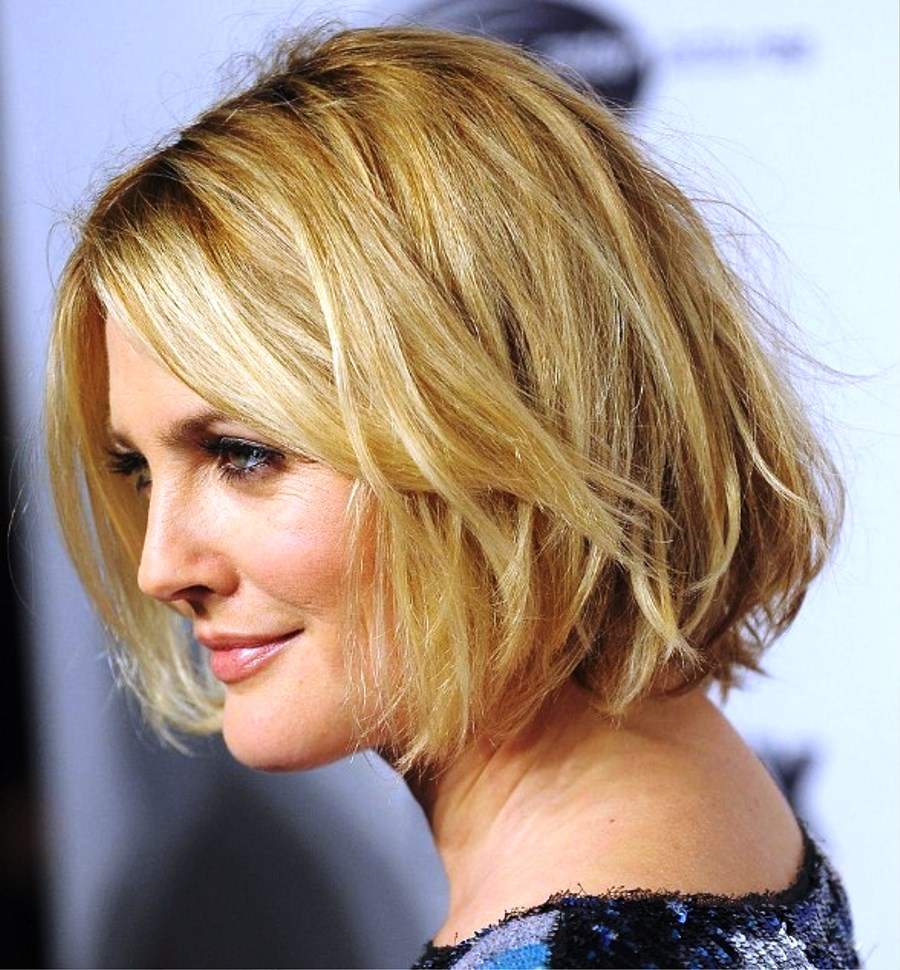 Pictures of Layered Short Bob Hairstyles For Women Over 50s