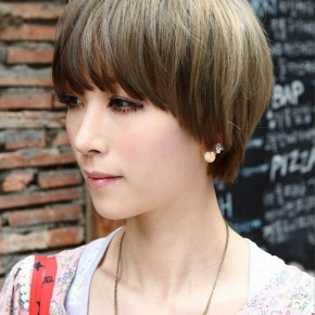 Layered Trendy Short Haircut With Bagns