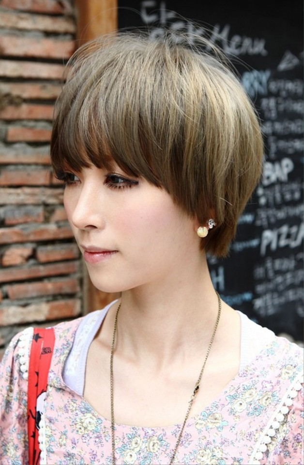 Images of layered haircuts with bangs
