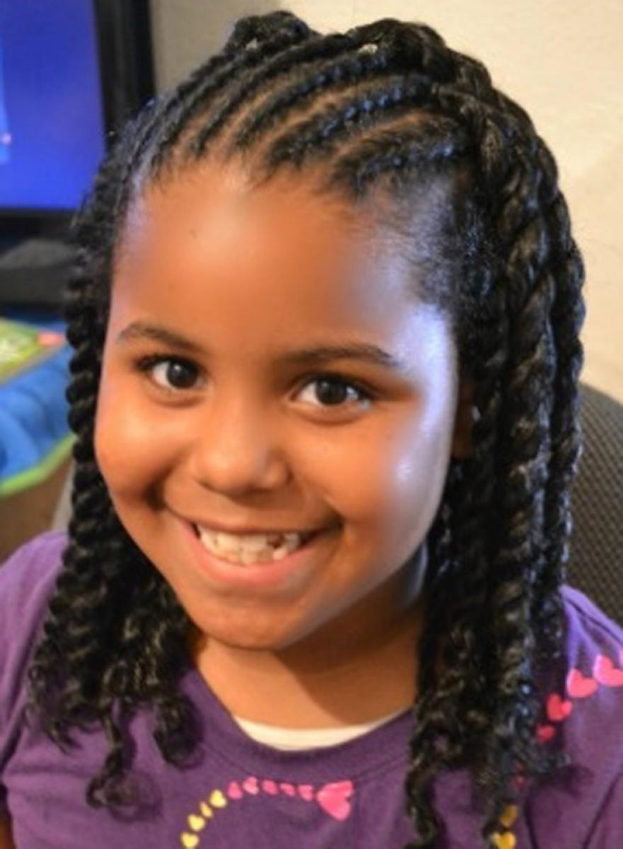 Pictures of Little Black Girls Hairstyles for School