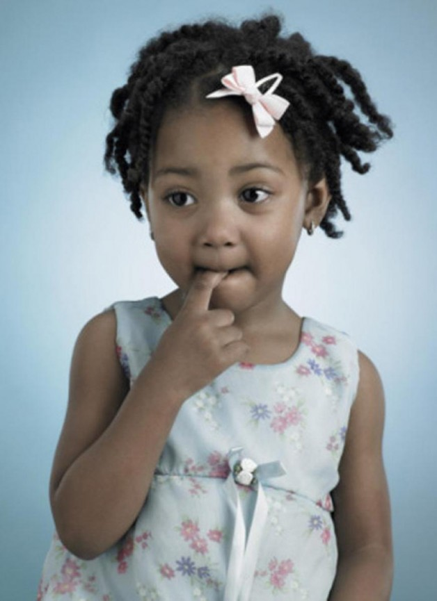 Little Black Girls Hairstyles with Barrettes