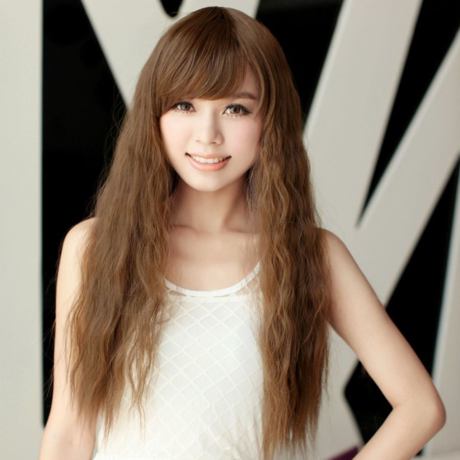 Pictures Of Long Curly Hairstyles Korean - Hairstyle korean girl