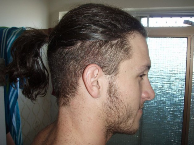 Long Hair On Top Shaved On Sides Men
