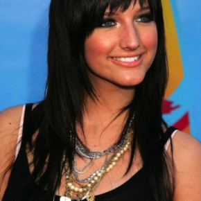 Long Black Hairstyles with Bangs