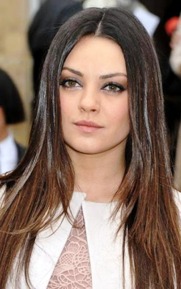 Long Hairstyles For Round Faces 2013