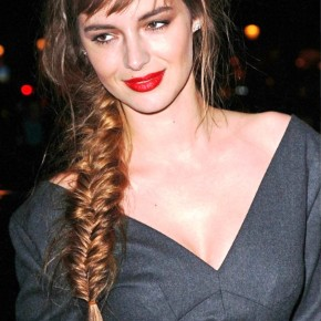 Long Side Swept Fishbone Braid