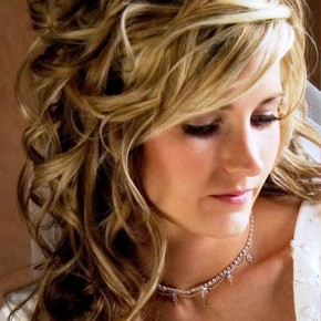 Long Wavy Curly Hairstyle For Wedding
