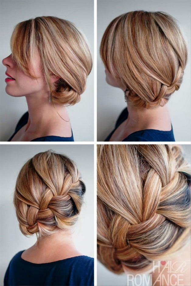 Loose French Braid With Sideway Twist