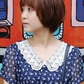 Lovely Short Asian Bob Haircut For Girls