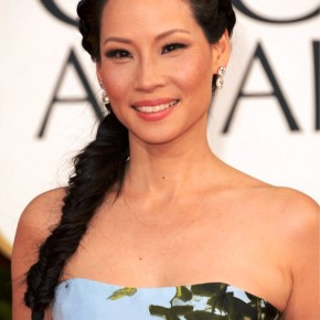 Lucy Liu Tousled Fishtail